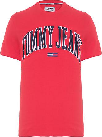 Tommy Jeans CAMISETA MASCULINA COLLEGIATE LOGO - VERMELHO