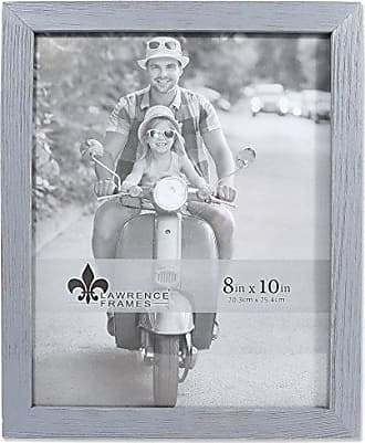 Lawrence Frames 8x10 Charlotte Weathered Gray Wood Picture Frame