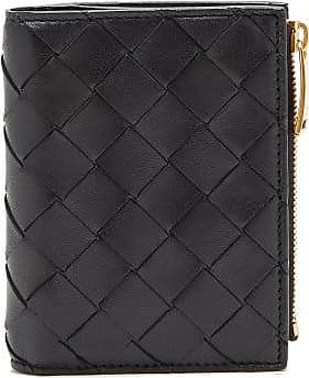 Bottega Veneta Top-zip Intrecciato-leather Wallet - Womens - Black