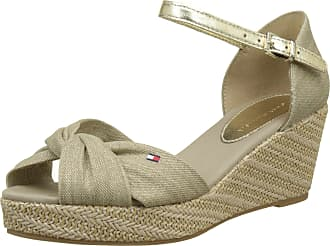 3b82fc675 Tommy Hilfiger Womens Iconic Elba Metallic Canvas Espadrilles Beige (Sand  102) 6.5 UK
