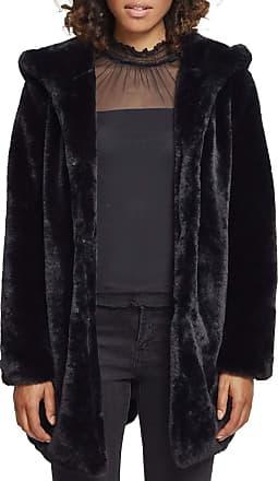 Urban Classics Womens Teddyjacke Plüsch Mantel aus Fleece-Ladies Hooded Teddy Coat Parka, Black, XL