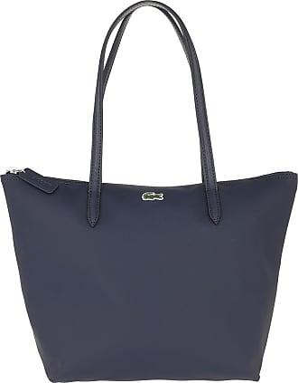 LACOSTE Anna Shopping Bag Schultertasche Green Gables Peacoat Blau