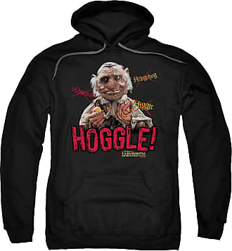 Popfunk Labyrinth Hoggle Unisex Adult Pull-Over Hoodie for Men and Women Black