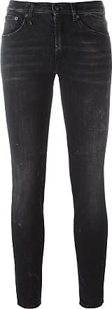 R13 cropped skinny jeans - Black