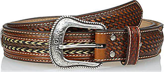 Nocona Belt Co. Nocona Mens Cross Concho Horse Hair Inlay, Tan, 36