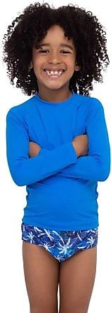 Marcyn Saída de Praia Camiseta Infantil UV Azul | 595.7511 11 - AZUL - 10