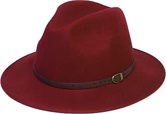 Hat To Socks Wool Fedora Felt Trilby Hat (57 cm, Crimson Red)