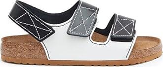 Birkenstock Birkenstock X Proenza Schouler - Milano Leather Sandals - Womens - Black White