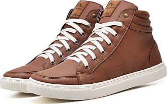 Juilli Sapatênis Sapato Casual Masculino JUILLI 1610DB Tamanho:37;cor:Marrom;gênero:Masculino