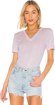 Splendid Everly Short Sleeve V Neck Tee in Lavender