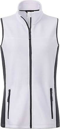 James & Nicholson JN855 Womens Workwear Fleece Vest/Gilet White/Carbon XL