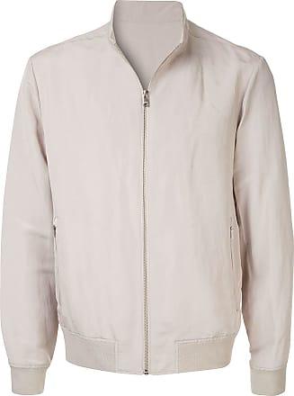 Durban zipped bomber jacket - NEUTRALS