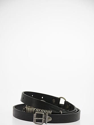 Dsquared2 Leather Belt with Metal Applications 20mm size 110