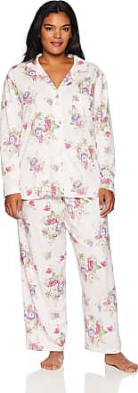 Karen Neuburger SZM Green White Floral S//S Capri Pant 2 Pc Pajama Set NWT