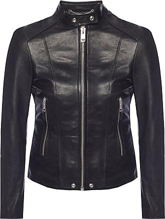 Diesel Leather Jacket Womens Black
