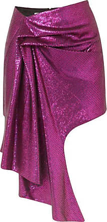Halpern Asymmetric Sequined Tulle Mini Skirt - Purple