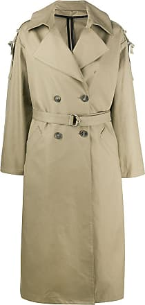 Yves Salomon double-breasted belted trench coat - Green