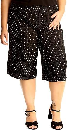 Nouvelle Collection Polka Dot Crinkle Culottes Black 24-26