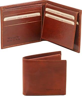 cff36f1d71 Tuscany Leather Esclusivo portafoglio uomo in pelle 3 ante Testa di Moro