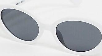 Noisy May Occhiali da sole rotondi rétro bianchi-Bianco