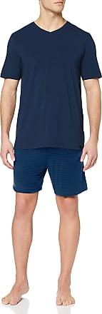 Schiesser Mens Long Life Cotton Schlafanzug Kurz Pyjama Set, Blue (Dunkelblau 803), Medium (Size: 050)