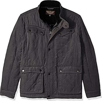 Urban Republic Mens Microfiber/Quilted Fleece Jackets, darkcharcoal, XL