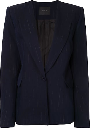 Dion Lee faded pinstripe blazer - Blue