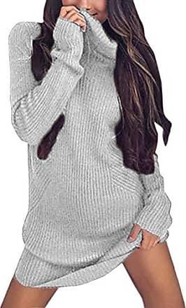 94d XL 46 48 NEU Kleid Longpullover Strickkleid grau Vero Moda Gr
