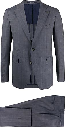 Tagliatore two-tone checked piece suit - Blue
