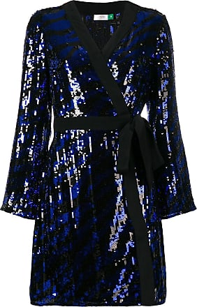 Rixo Vestido Maria trespassado - Azul
