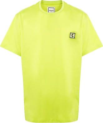 Wooyoungmi Camiseta decote careca com estampa de logo - Verde