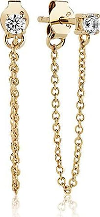 Sif Jakobs Jewellery Earrings Princess Piccolo Lungo - 18k gold plated with white zirconia