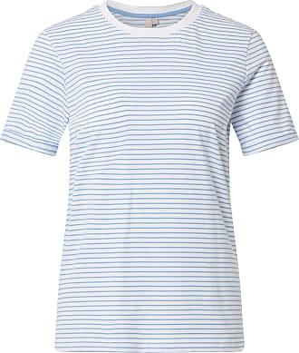 Pieces T-Shirt Ria weiß / hellblau