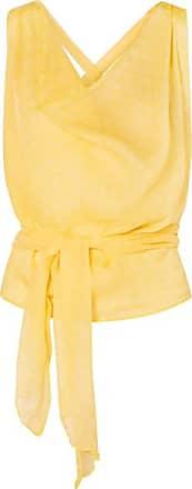 Cloe Cassandro Santi Cropped Printed Silk-crepon Top - Yellow