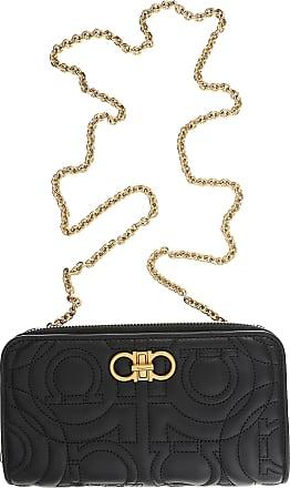Salvatore Ferragamo Shoulder Bag for Women On Sale, Black, Leather, 2017, One size