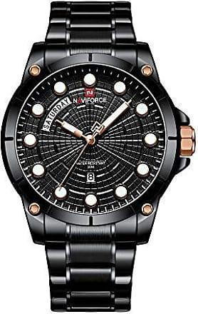 NAVIFORCE Relógio Masculino Naviforce NF9152 BB Pulseira em Aço - Preto