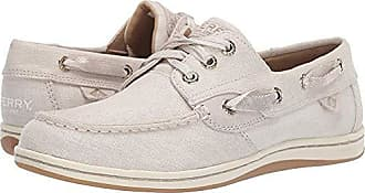 Sperry Top-Sider Womens Songfish Linen Boat Shoe, Ivory, 065 M US