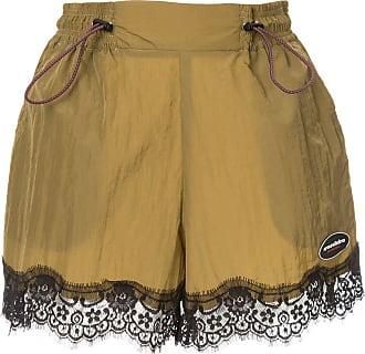 Ground-Zero lace hem shorts - Marrom