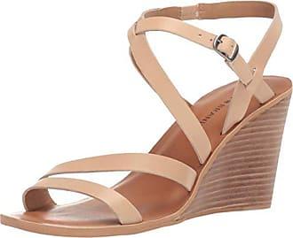 Lucky Brand Lucky Womens NOEMIA Wedge Sandal, Stone, 6 M US