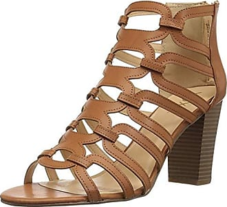 xoxo Womens Bloomington Heeled Sandal, tan, M055 M US