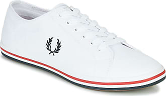 Fred Perry Kingston Twill Trainers Men White - UK:6.5 - Low Top Trainers Shoes