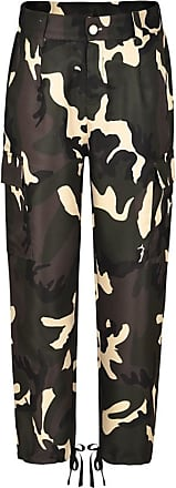FNKDOR Fashion Cool Style Womens Clubbing Climbing Outing Sexy Camouflage Pants Camo Casual Cargo Joggers Trousers Hip Hop Rock Trousers(Yellow,L4)