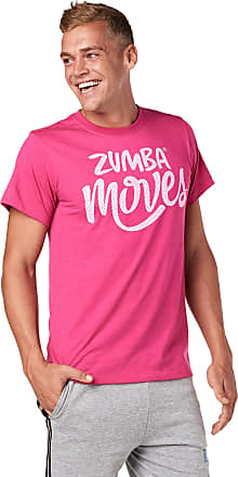 Zumba Breathable Fitness Unisex Workout Printed Graphic Tees for Women and Men, Berry 0, XS/S