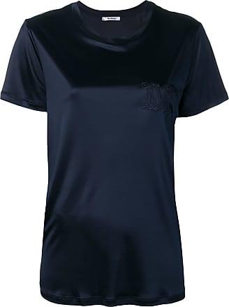 Max Mara Camiseta decote careca - Azul