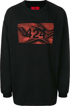424 long-sleeve printed T-shirt - Preto