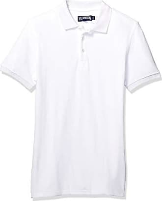 Vilebrequin Mens Pacific COLID Terry Polo, Blanc 4XL