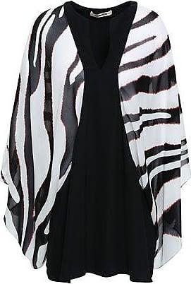 cfc0a36a9ec6f Roberto Cavalli Roberto Cavalli Woman Paneled Printed Silk-georgette Blouse  Black Size 46