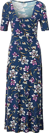 Madeleine Sommerkleid mit kurzen Ärmeln in blau MADELEINE Gr 34, nachtblau/multicolor für Damen. Elasthan, Viskose