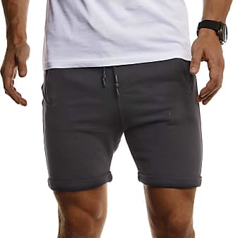 LEIF NELSON Gym Fitness Mens Sports Shorts for Workout and Training LN-8316 Anthracite Medium