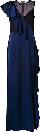 Diane Von Fürstenberg Macacão com babados - Azul